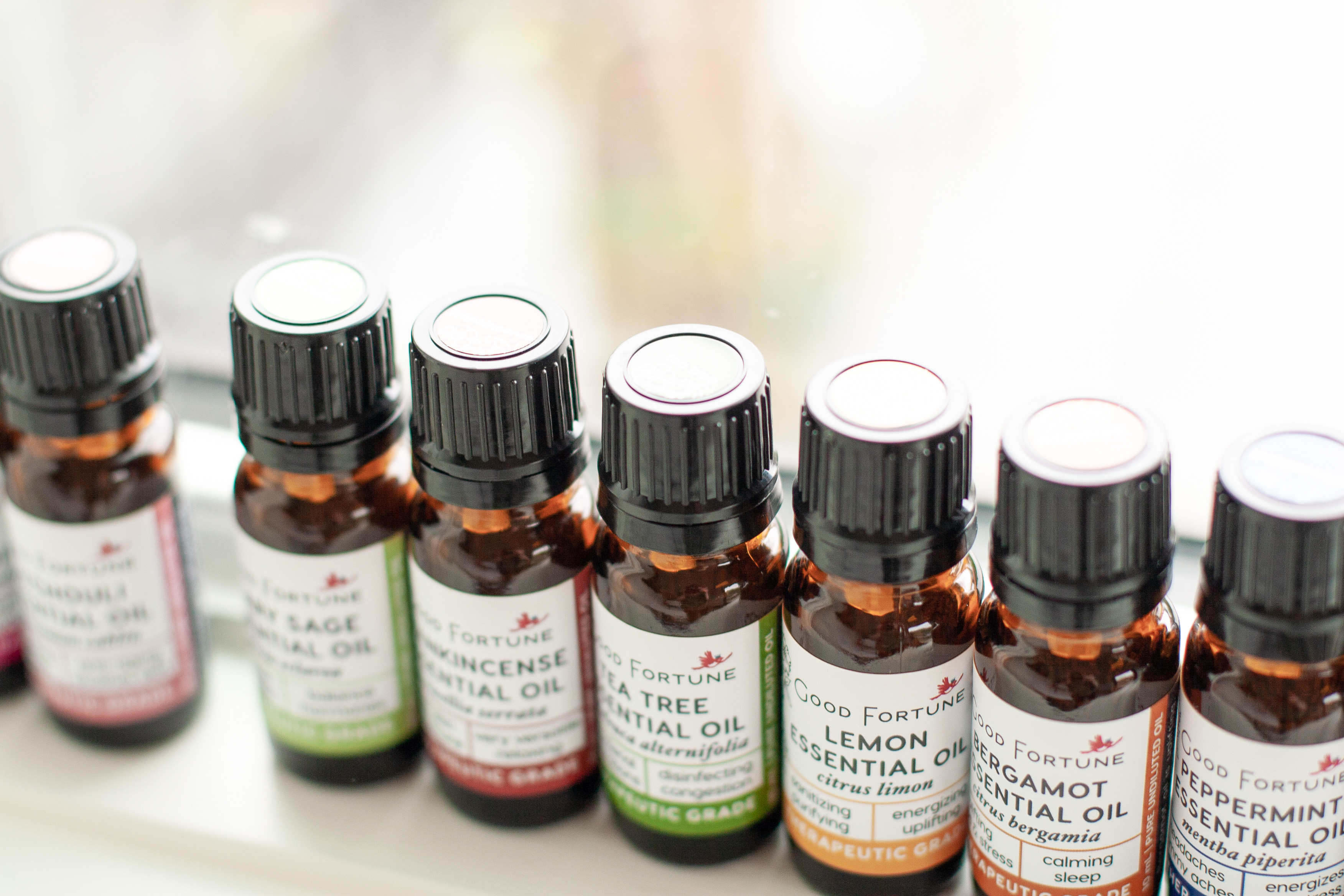 Pure essential oils from Good Fortune Soap